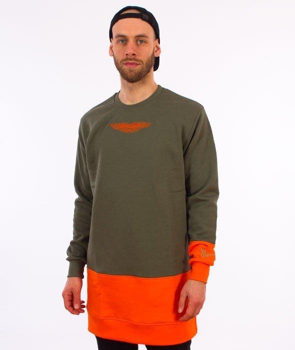 Stoprocent-Limit Bluza Khaki/Pomarańczowa