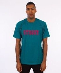 Stussy-Cracked T-Shirt Dark Teal