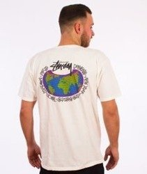 Stussy-Global Designs Pig. Dyed T-Shirt Natural
