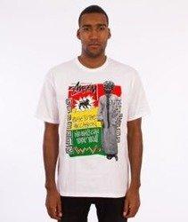 Stussy-Rastafarai T-Shirt Biały