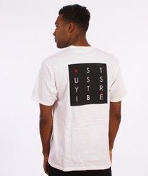 Stussy-Tribe Box T-Shirt Biały