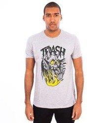 Trash-Fuck Off T-shirt Szary