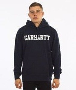 Carhartt-Hooded College Sweat Navy/White