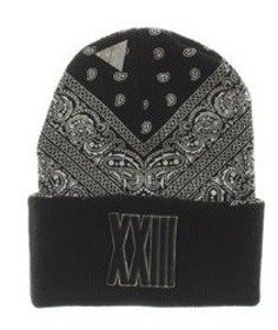 Cayler & Sons-Bumrush Old School Beanie Black/White