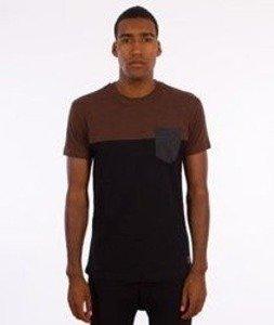 Iriedaily-Block Pocket T-Shirt Brown Melange
