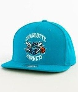 Mitchell & Ness-Charlotte Hornets Wool Solid Snapback NZ979 Teal