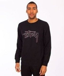 Stussy-Stock Outline Crewneck Black