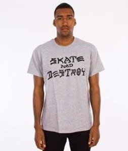 Thrasher-Skate And Destroy T-Shirt Grey