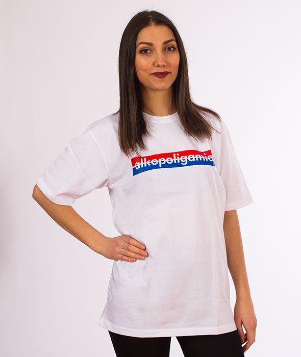 Alkopoligamia Tapes Panasonic Classic T Shirt Biały