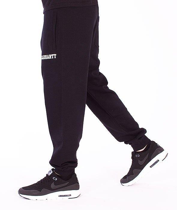 Carhartt-College Sweat Pants Black/White