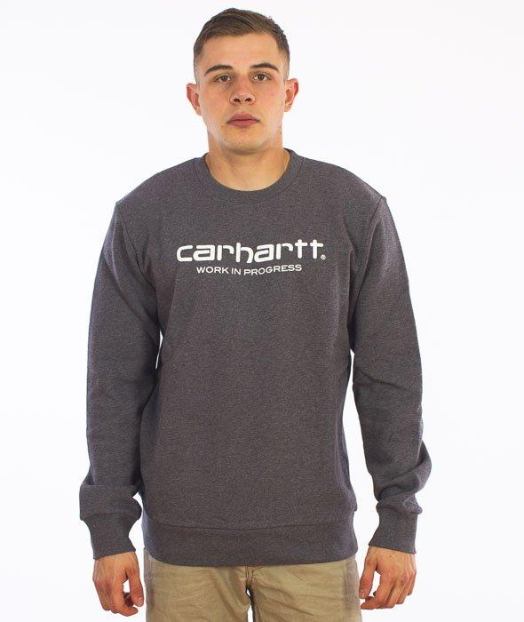 Carhartt-WIP Script Sweatshirt Cotton Dark Grey Heather/White