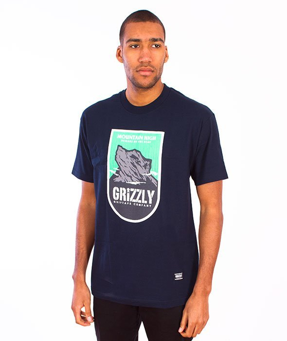 Grizzly-Mountain Hish T-Shirt Navy