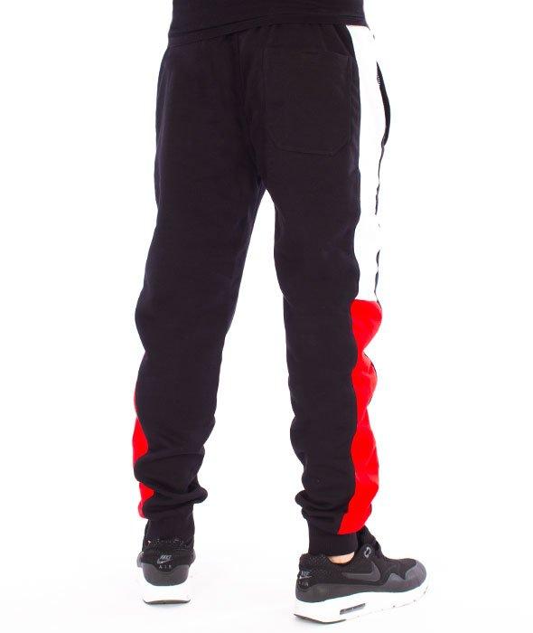 Spodnie sportowe Fila czarne z poliestru