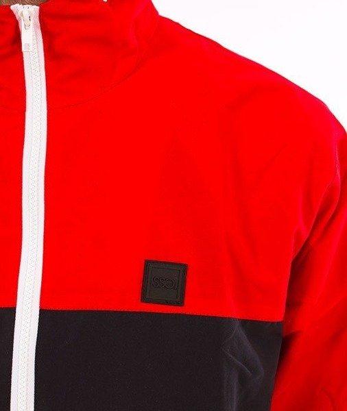 689bb35d SmokeStory-Zip Half Colors Kurtka Wiatrówka Czerwony Czarny