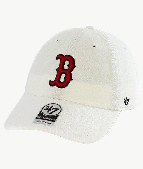 47 Brand-Clean Up Boston Red Socks Czapka z Daszkiem Biała