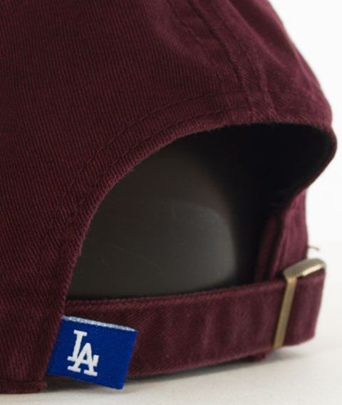 47 Brand-Clean Up Los Angeles Dodgers Czapka z Daszkiem Bordowa