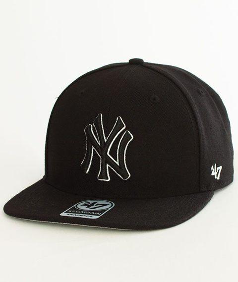 47 Brand-New York Yankees Czapka z Daszkiem Czarna