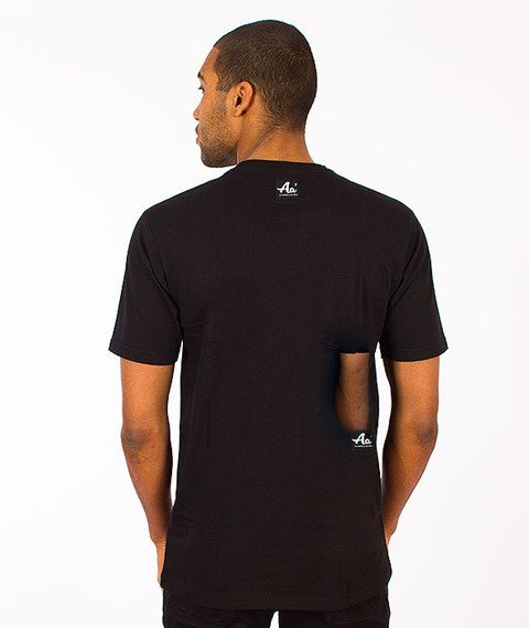 Alkopoligamia-Aa' Basic Pocket T-shirt Czarny