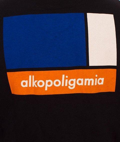 Alkopoligamia-Flag Bluza Kaptur Zip Czarny