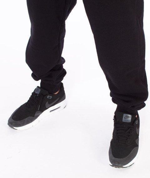 Alkopoligamia-Flame Spodnie Dresowe Czarne