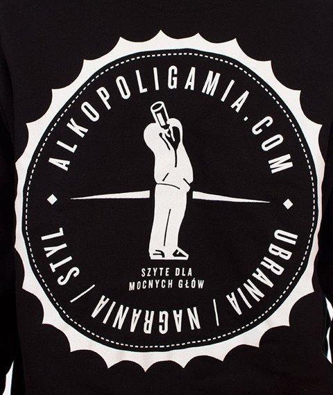 Alkopoligamia-Kapsel Bluza Kaptur Zip Czarny
