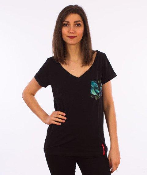 Alkopoligamia-Loveyourlife Botanix T-Shirt Damski Czarny