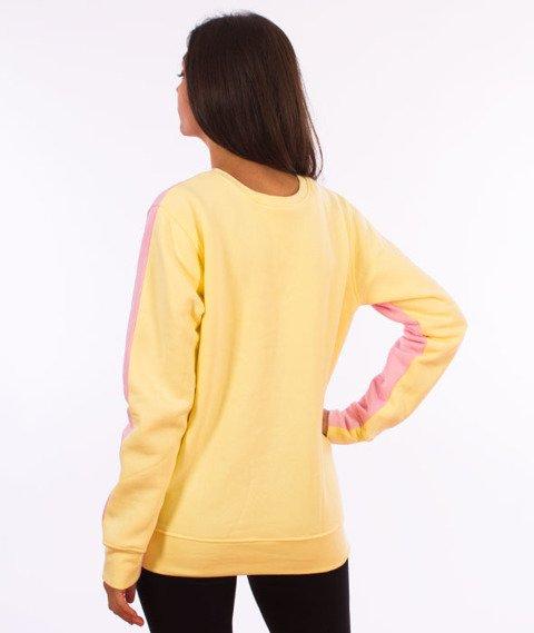 Alkopoligamia-Loveyourlife Dwustronna Bluza Żółta/Różowa