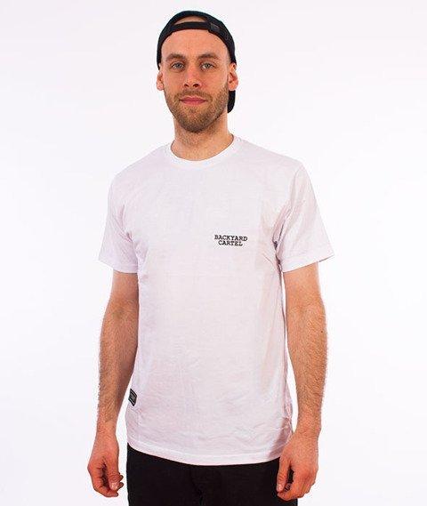 Backyard Cartel-Back Label T-Shirt Biały