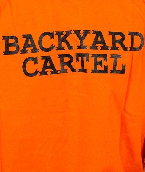 Backyard Cartel-Back Label T-Shirt Pomarańczowy