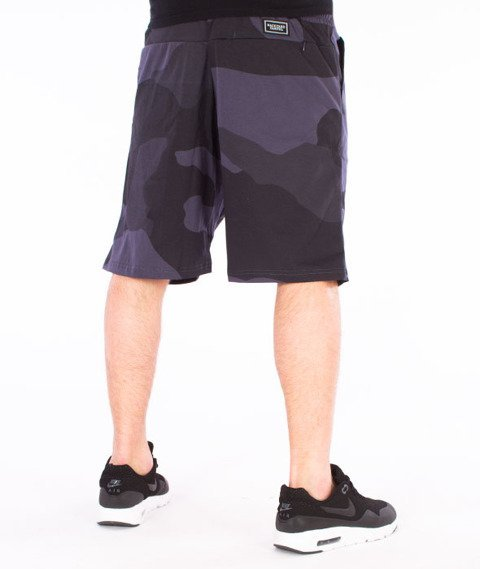 Backyard Cartel-Big Woodland Shorts Szare Camo