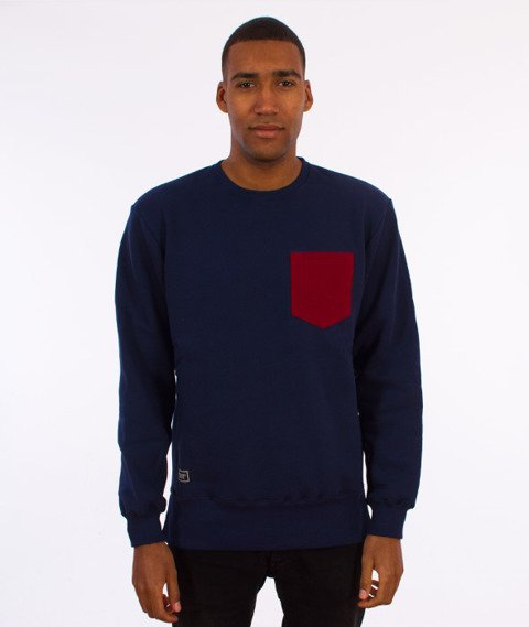 Backyard Cartel-Court Long Crewneck Bluza Granatowa