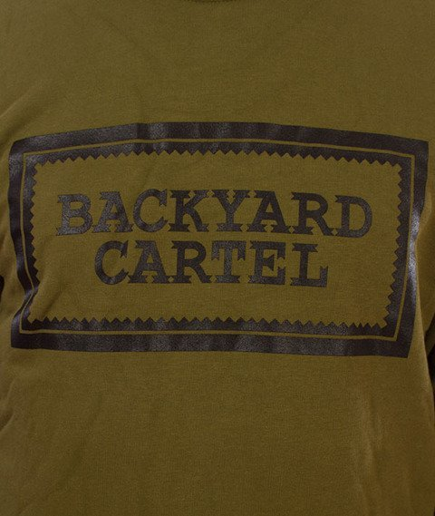 Backyard Cartel-Label Logo Crewneck Bluza Khaki