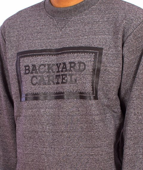 Backyard Cartel-Label Logo Crewneck Grey