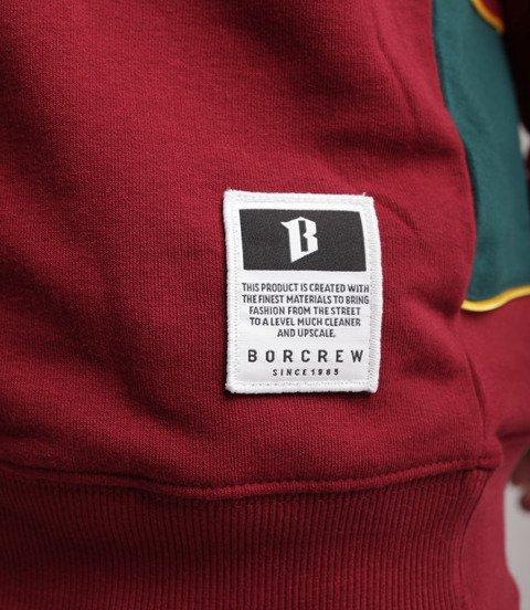 Biuro Ochrony Rapu B13 Bluza Stójka Bordowy