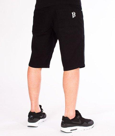 Biuro Ochrony Rapu-Borcrew Szorty Jeans Krótkie Spodnie Czarny Jeans