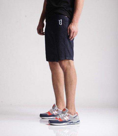 Biuro Ochrony Rapu-Classic BorCrew Szorty Krótkie Spodnie Dark Jeans