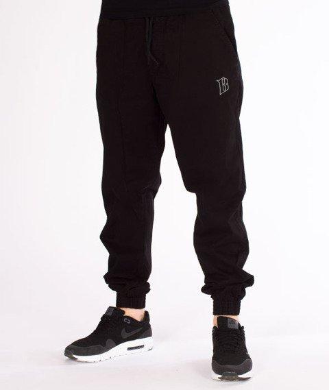 Biuro Ochrony Rapu-Jogger Fit Guma Strecz Spodnie B Outline Czarny