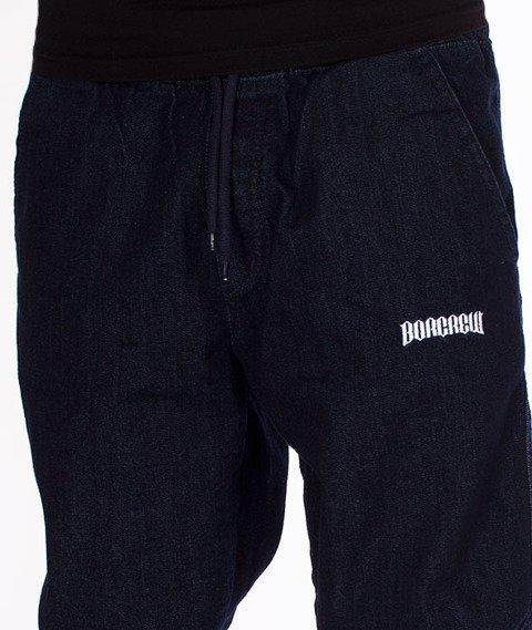 Biuro Ochrony Rapu-Jogger Fit Guma Strecz Spodnie Borcrew Dark