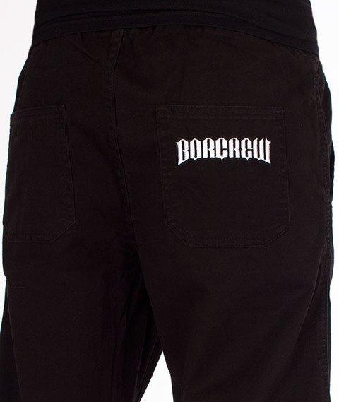Biuro Ochrony Rapu-Jogger Fit Guma Strecz Spodnie Classic Borcrew Czarny Jeans