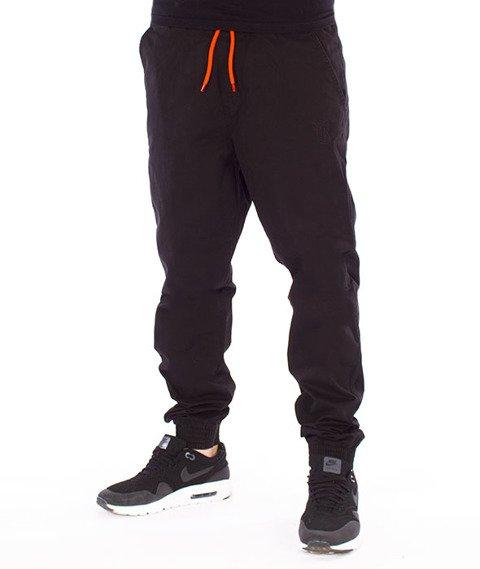 Biuro Ochrony Rapu-Jogger Fit Guma Strecz Spodnie Classic Borcrew Outline Czarny