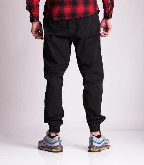 Biuro Ochrony Rapu Jogger Fit Guma Strecz Spodnie Jeans Czarny