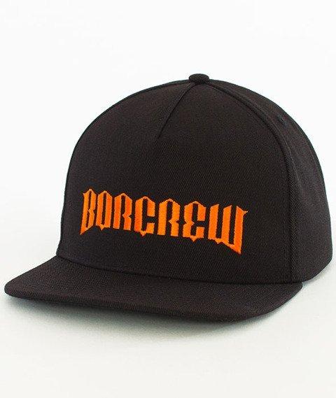 Biuro Ochrony Rapu-New Borcrew Snapback Czarny/Pomarańczowy