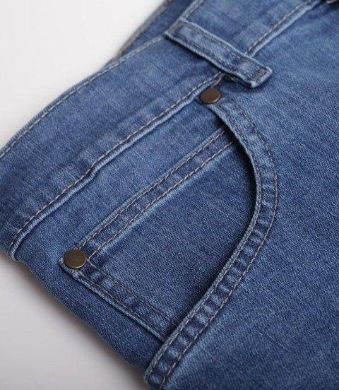 Biuro Ochrony Rapu-New Kwadrat Szorty Krótkie Spodnie Light Jeans