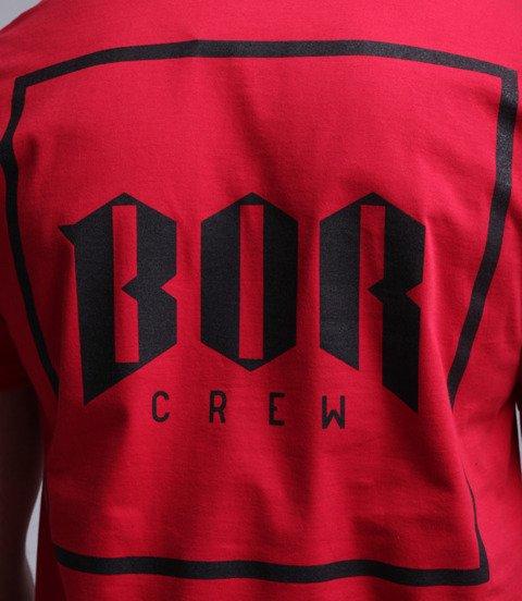 Biuro Ochrony Rapu-New Kwadrat T-shirt Czerwony