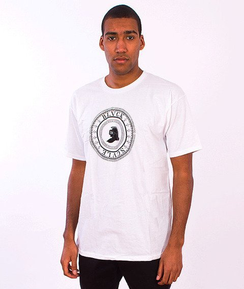 Black Scale-Circular Logic T-Shirt White