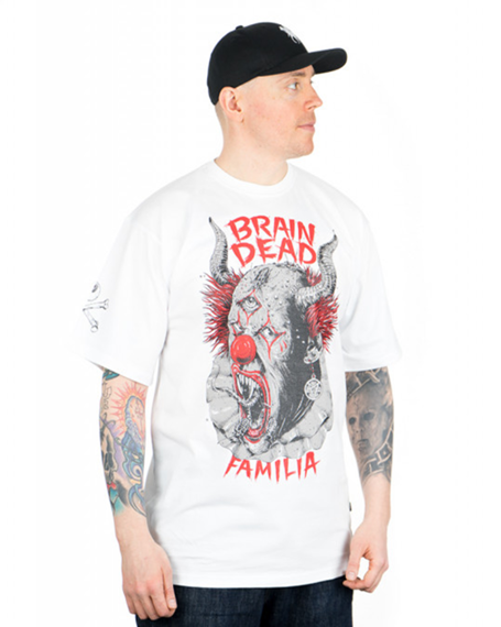 Brain Dead Familia-Clown T-shirt Biały