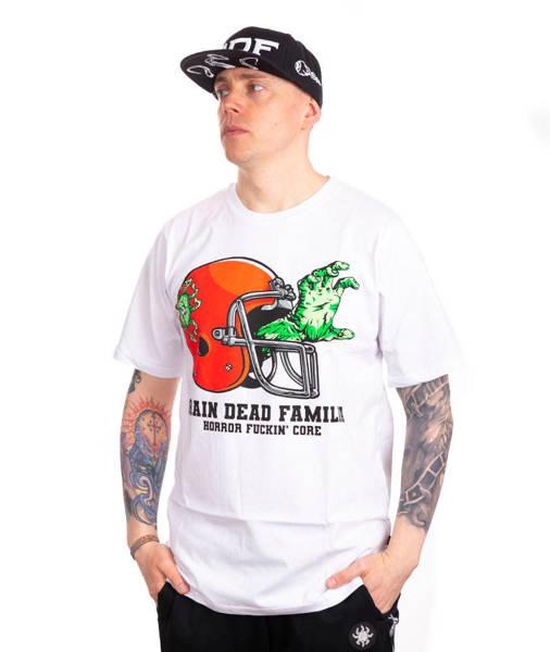 Brain Dead Familia FOOTBALL T-SHIRT Biały