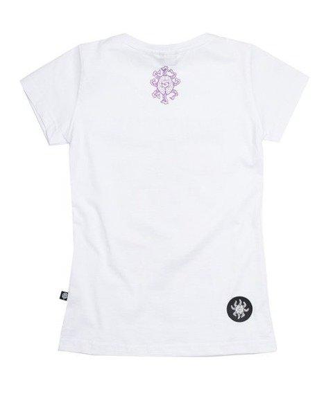 Brain Dead Familia GIRL BAT T-shirt Damski Biały