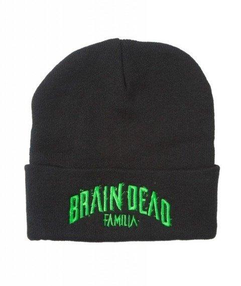 Brain Dead Familia-Toxic Czapka Zimowa Zawijana Czarna
