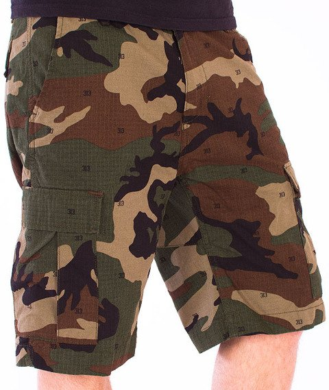 Carhartt-Aviation Short Camo 313 Green Rinsed